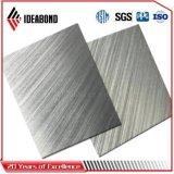 Panel Compuesto de Aluminio Cepillado plata de los países ACP (AE-32A)