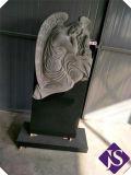 도매 까만 화강암 두 배 묘비 또는 기념물 또는 묘석