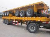 3 Flatbed de Aanhangwagen van de Container van de Verkoop van Factoray van assen