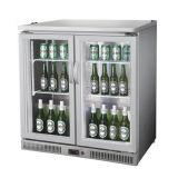 Bancada de porta de vidro mini geladeira para Bebidas para contador de Barra