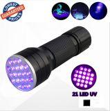 21 LED lumière UV 365 nm 395nm Blacklight lampe ultraviolette