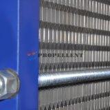 Partícula/fibra cristalina/cambiador de calor ancho medio material pegajoso de la placa del libre flujo del canal del acero inoxidable