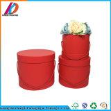 ハンドルが付いているリサイクルされた贅沢な円形の花包装ボックス