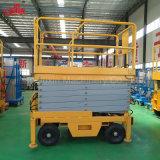 500kg 6-18m中国の上の製造者の移動式手動油圧はセリウムISOの証明の上昇を切る