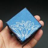 보석함 조직자 저장 그릇 파란 꽃 선물 종이 상자 ##Tt11