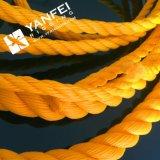 Веревочка 8 PP стренги белая/желтая веревочка PP