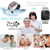 Reloj del perseguidor del GPS de los adultos con el botón el SOS para la ayuda (T59)