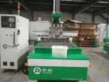 Ferramenta automática pneumática alterando Máquina Router CNC de madeira com 4 fusos