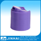 シャンプーのための紫色のプラスチックPPディスク上の帽子のふた