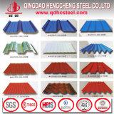 22 feuille en acier ondulée galvanisée de toiture enduite par couleur de la mesure PPGI