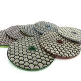 100mm 훅 & 루프백 다이아몬드 유연한 건조한 닦는 패드