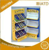 Expositions de marchandises de papier de compteur de détail de mémoire d'étage de carton