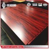 El panel compuesto de aluminio de madera de Ideabond con la mejor calidad (AE-304)