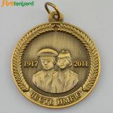 リボンが付いているカスタマイズされた与えられたメダル