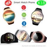 Relógio redondo novo dos esportes da tela com o monitor da frequência cardíaca (K18)