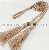 Alineada al por mayor de la materia textil de la decoración de la correa de la borla de los accesorios de la ropa de las mujeres de la manera
