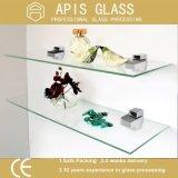 China heló estantes del vidrio Tempered con el borde Polished plano