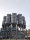 Prijs van de Silo van het Cement van 100 die Ton van de vlok de Afneembare in Concrete het Groeperen Installatie wordt gebruikt