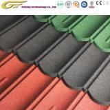 Los materiales de construcción de piedra del techo de teja de acero recubierto de plaqueta de asfalto