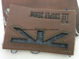 Contrassegno dei jeans del cuoio impresso del Brown di modo