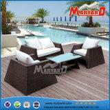屋外の柳細工の家具の藤のソファー