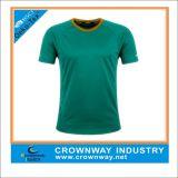 Printing Logo를 가진 100%년 폴리에스테 Plain Green Running T-Shirt