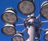 직류 전기를 통하는 30m와 분말 코팅 플러드 점화 장치를 올리고 낮추기를 가진 강철 높은 돛대 전등 기둥