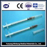 Seringas medicinais descartáveis, com agulha (1 ml), Luer Slip, com ce e ISO aprovado