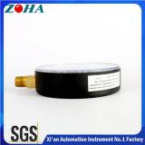 Mètres bon marché de pression avec la caisse en laiton d'acier du connecteur Hpb59-1