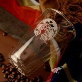 二重壁のガラスコーヒー・マグ旅行コーヒーガラスホウケイ酸塩ガラスのマグ