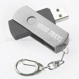 Вращая привод вспышки USB с вашим собственным логосом дальше для промотирования компании