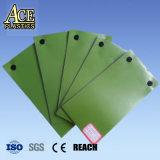 0.4mmの人工的な草の芝生材料のための緑の堅いプラスチックPVCシート