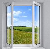 Het openen van het Binnen Dubbele Openslaand raam van de Ruit UPVC voor Slaapkamer