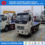 Camion à plat de déplacement de barrage routier de camion de dépanneuse de remorquage de LHD 4X2
