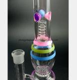 Rokende Pijp van het Glas van de Pijp van het Gebrandschilderd glas van 14.17 Duim de Filter Gerecycleerde