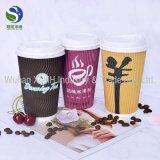 Tazas de papel del café del agua disponible barata a granel del té con las tapas