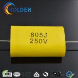Condensateur polypropylène métallisé axial (CBB20 805J/250V) avec du fil de cuivre jaune pour l'exécution RoHS (CBB20 série)