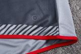 Вентиляция сухой сшита влажности долго серого цвета с коротким рукавом для взрослых и ребенка средства подготовки футбольных одежды