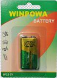 9V 6f22 de Batterij van het Chloride van het Zink