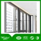 Doppeltes Scheiben-Schwingen-äußeres Aluminiumflügelfenster-Fenster