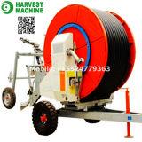 Landwirtschaftliches Berieselung-Systems-reisende Wasser-Schlauch-Bandspule-Regen-Berieselung-Maschine
