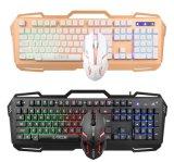 Конструкция из алюминиевого сплава Gamer клавиатура и оптическая мышь геймер (КБ-801EL)