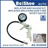 Inflator novo do ar do verificador do manómetro do calibre de pressão do pneu de Digitas do carro