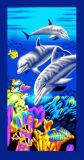 Serviette de plage des dauphins et de haute qualité Serviette de plage promotionnel (4708)