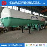 60000litres de propane Tri-Axle réservoir de transport de gaz GPL semi-remorque de 30 tonnes pour le marché des Philippines