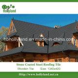 Камень из стали с покрытием миниатюры на крыше (деревянные типа)