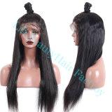 Lili belleza delantera de encaje brasileño Cabello pelucas para las mujeres Remy cabellos lisos peluca con baby natural del cabello final completo del indicador de color negro.