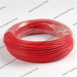 Isolamento de PVC flexível de condutores de cobre do fio eléctrico H07V-K