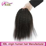 волосы волос Xbl Remy ранга 8A Kinky прямые перуанские