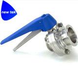 Санитарные клапан-бабочки сваривая нержавеющую сталь концов 304 316L
